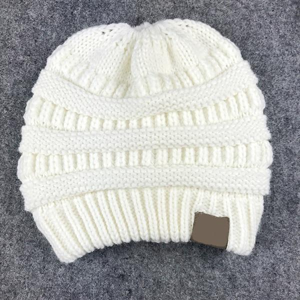 The Stylopedia Women Clothing White CutePony™ Soft Ponytail Beanie
