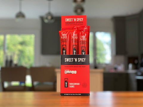 Sweet 'n Spicy Beef Sticks Made With Grass-Fed Beef - Case