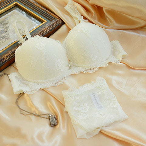 Adjustable Sexy Lace Bra Set