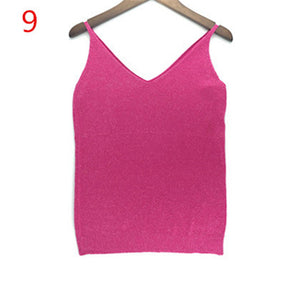Sleeveless V-Neck Tank Tops