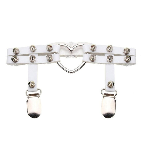 Punk Leg Ring Thigh Harness Heart Garter