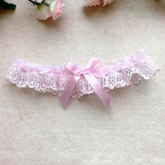 Floral Bowknot Wedding Party Leg Garter