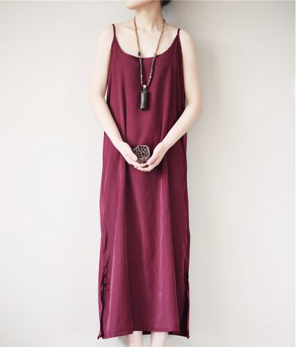 Real Silk Long Sexy Slips Dress
