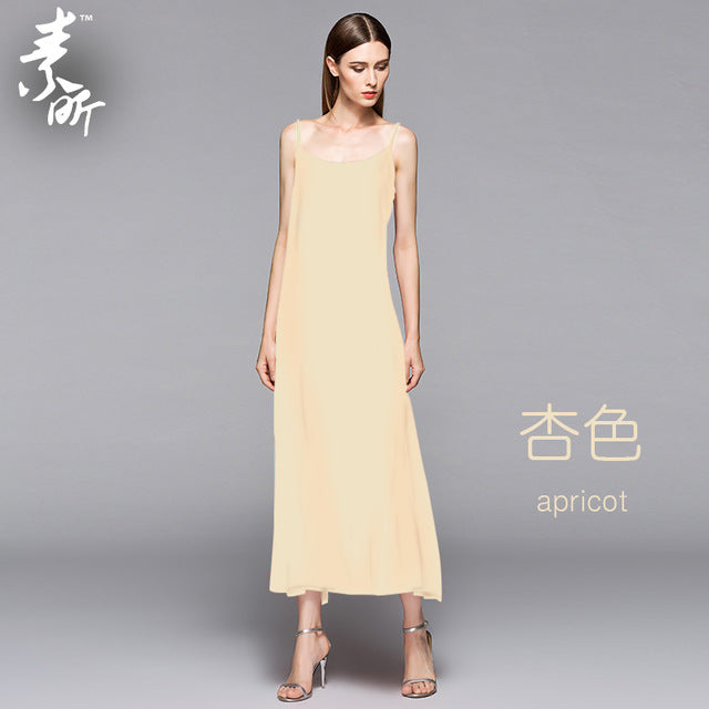 Spaghetti Strap Long Thin Full Slip