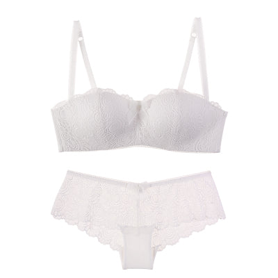 Small Wireless Comfortable Lace Sexy Bra Set