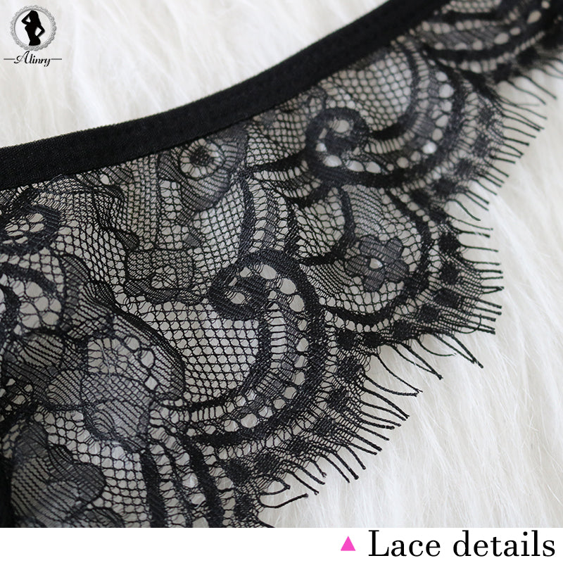 Lace Solid Wire Free Push Up Briefs Sets