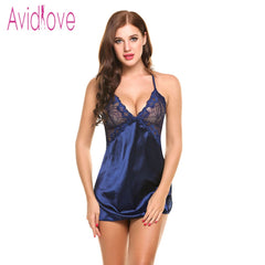 Silk Sexy Patchwork Nightgown