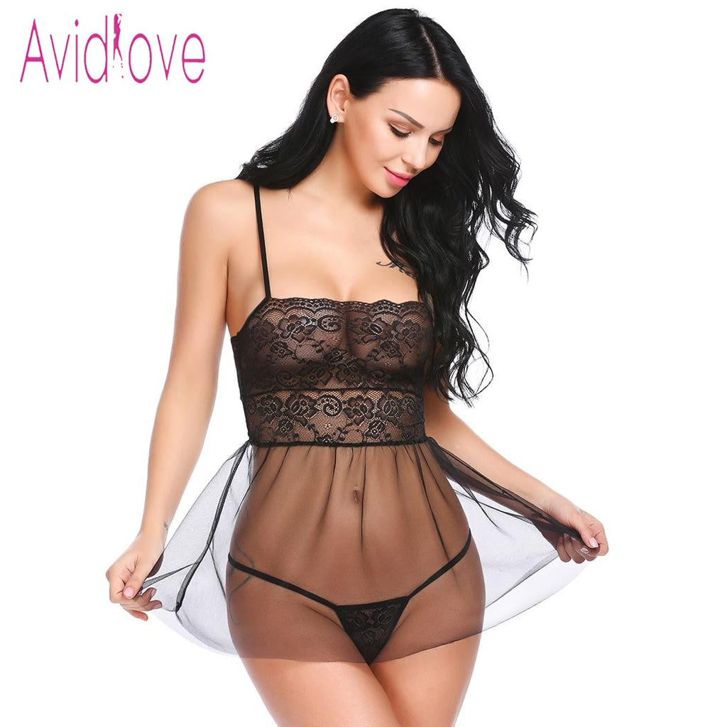 Sexy Hot Erotic Babydoll Lingerie Dress