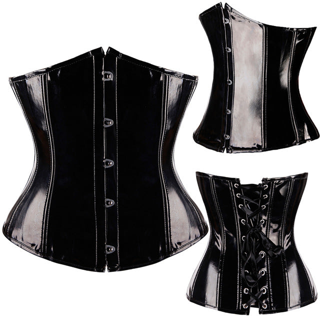 Steampunk Sexy Faux Leather Corsets and Bustiers