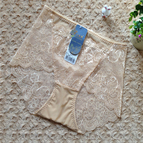 Full Transparent Lace Seamless Underwear
