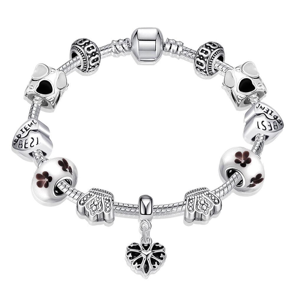 The Best Freinds Pandora Inspired Bracelet Made with Swarovski Elements - CharmToSpare