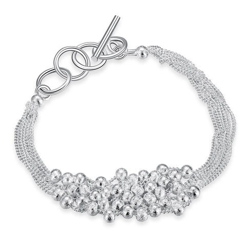 Bubble Pearl Bracelet in 18K White Gold Plated - CharmToSpare