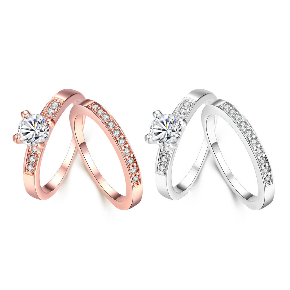 Swarovski Crystal 2 Piece Band and Ring Set in 18K Gold Plated - CharmToSpare