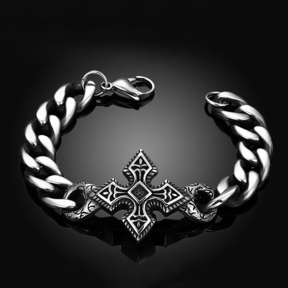 Mini Stainless Steel Cross Bracelet - CharmToSpare