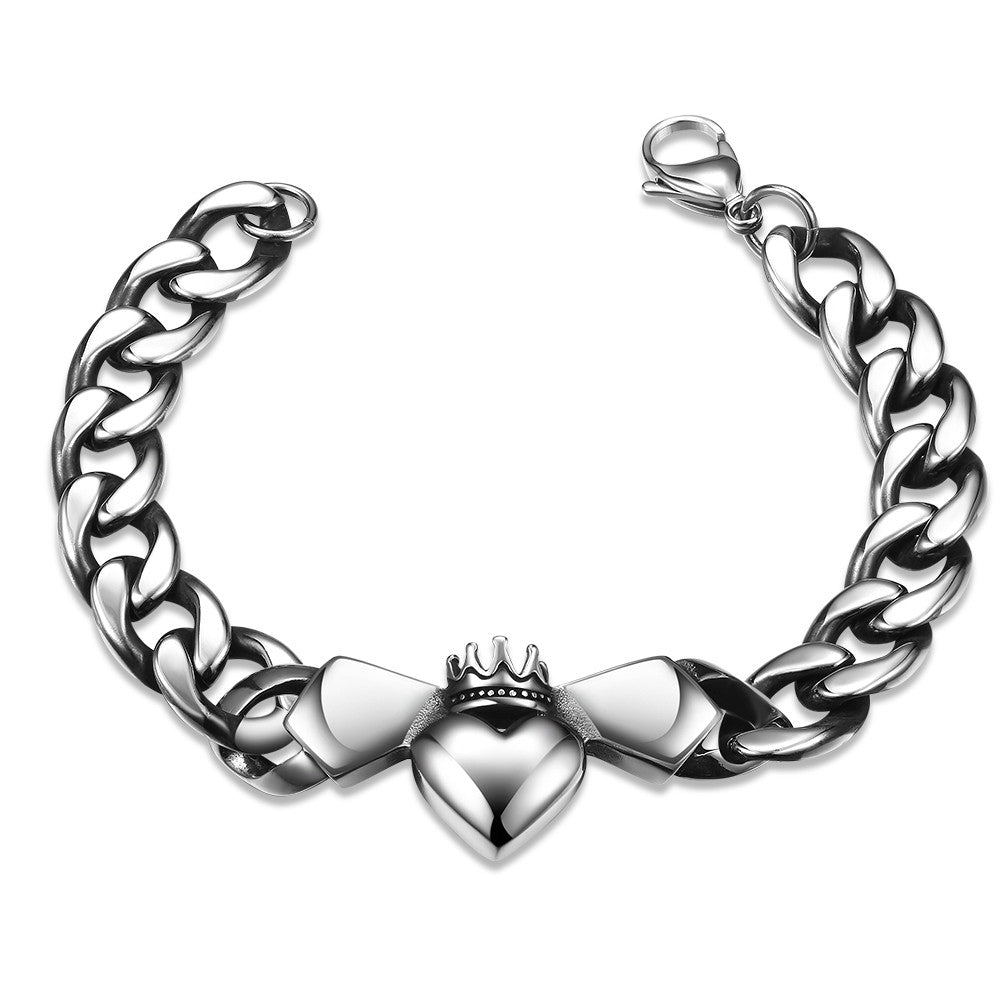 Trio-Hearts Stainless Steel Bracelet - CharmToSpare
