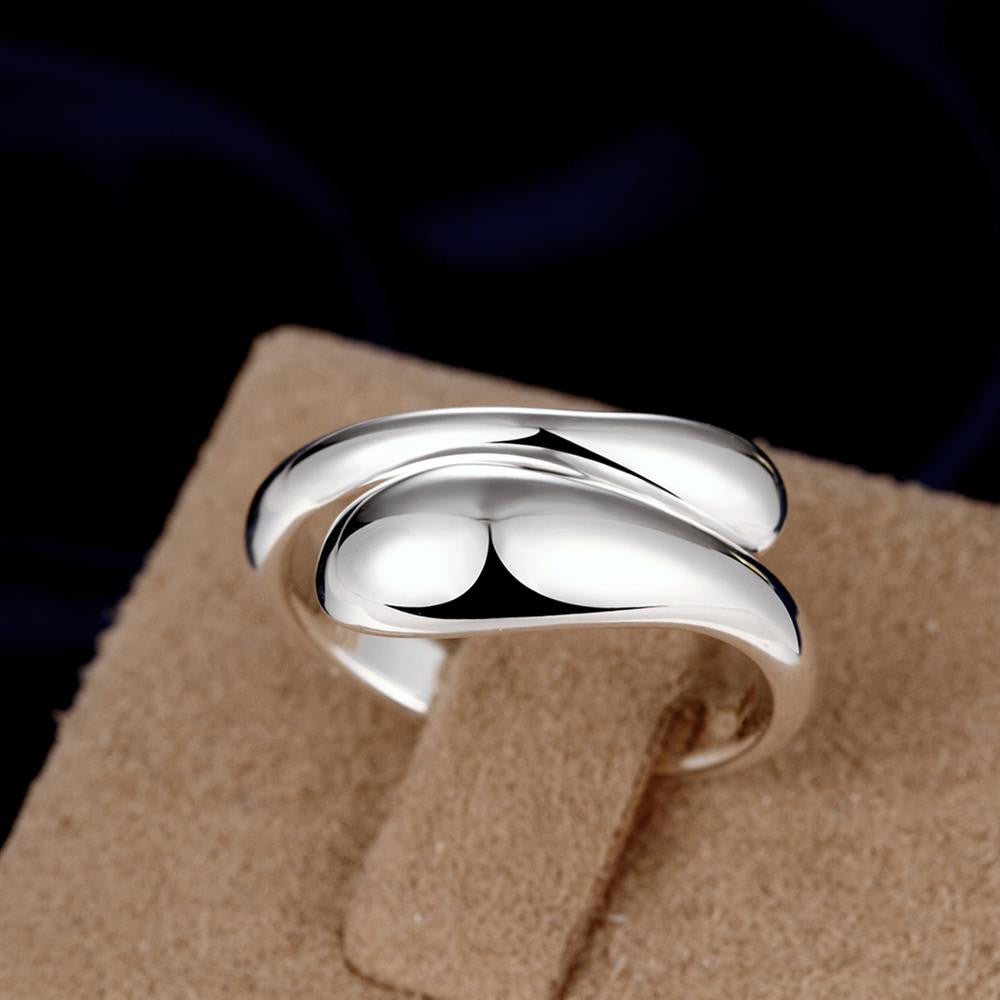 Teardrop Ring Adjustable in White Gold Plated - CharmToSpare