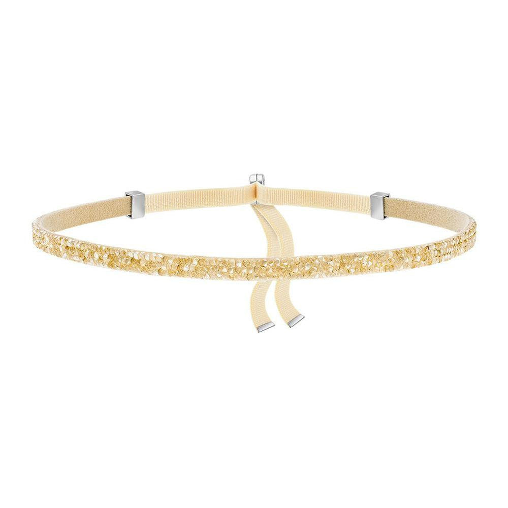Made with Swarovski Crystal Choker Necklace - Gold - CharmToSpare