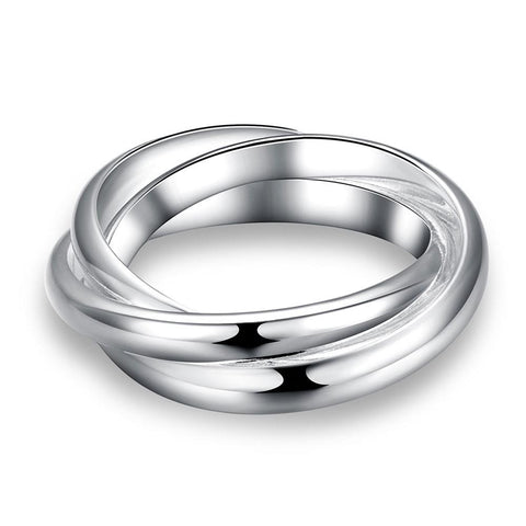 Rolling Bands Ring in White Gold - CharmToSpare