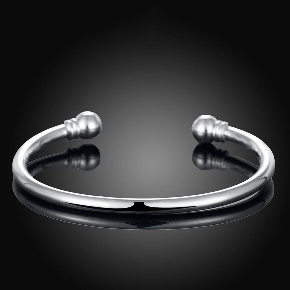 Classic Bangle in 18K White Gold Plated - CharmToSpare