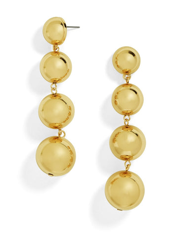 18K Gold Plated 4 Ball Drop Earring - CharmToSpare