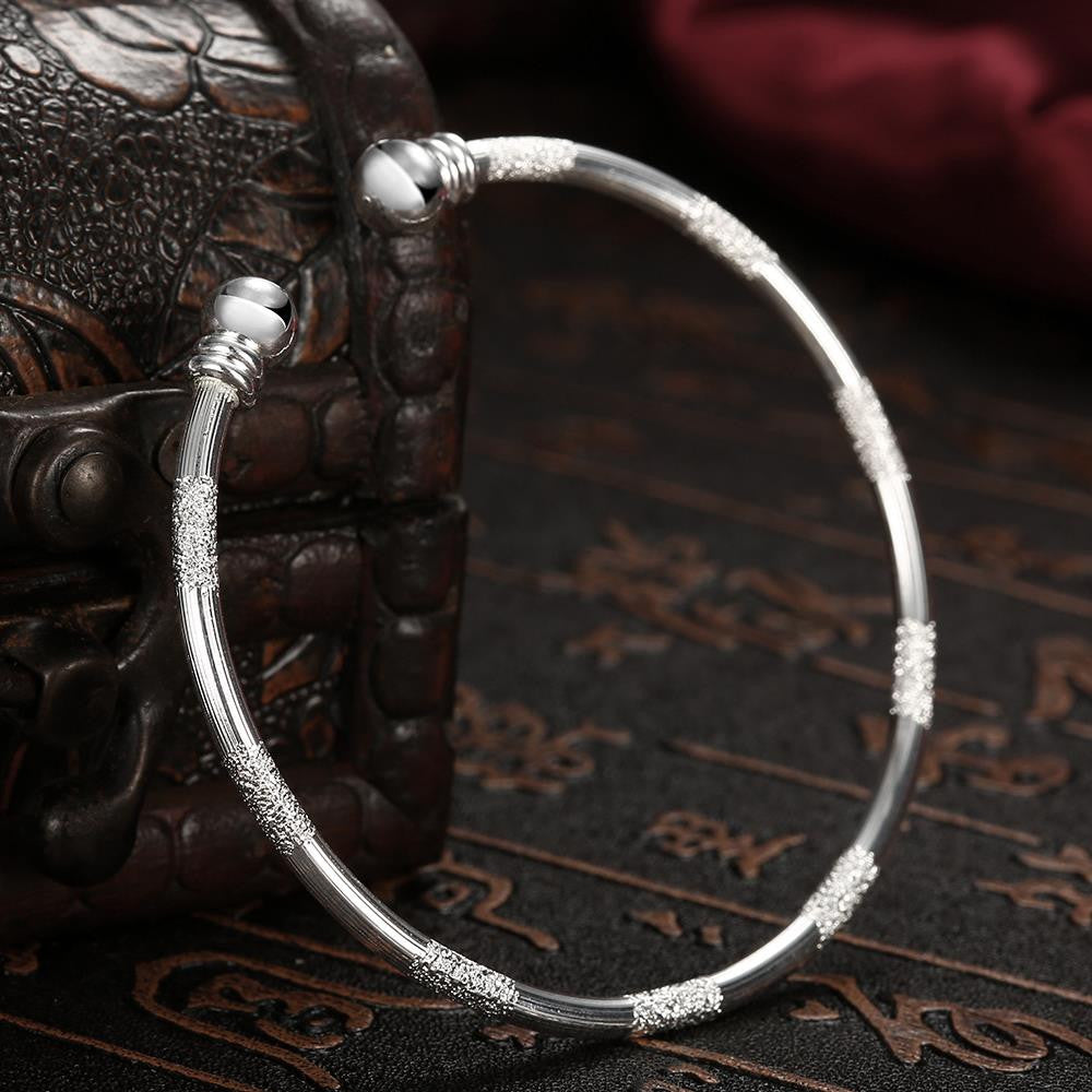 Shimmer Dust Bangle in 18K White Gold Plated - CharmToSpare