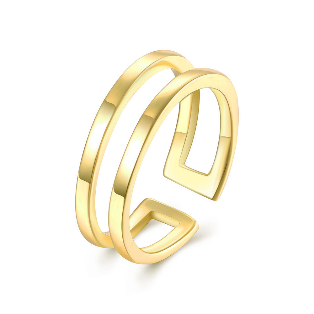 18K Gold Filled Adjustable Ring - CharmToSpare