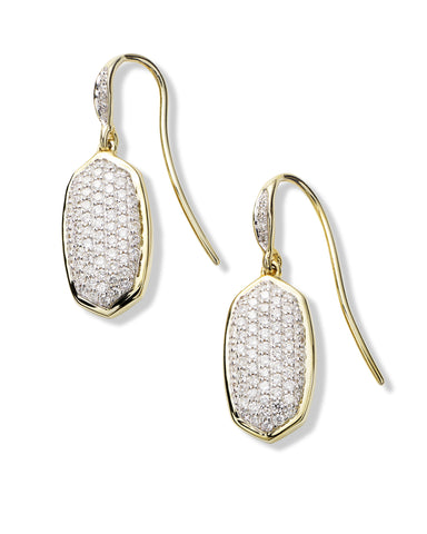 Made with Swarovski Crystal 18K Gold Pave Drop Earrings - CharmToSpare