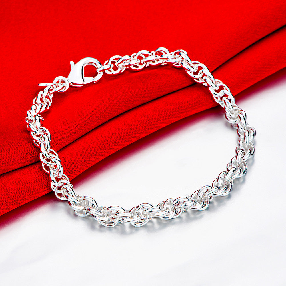 Inception Weave Bracelet in 18K White Gold Plated - CharmToSpare