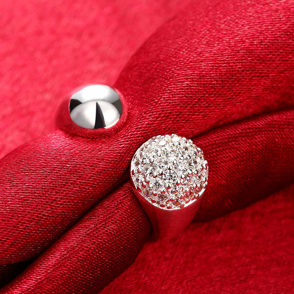 Pave in Swarovski Crystals Adjustable Ring in White Gold - CharmToSpare