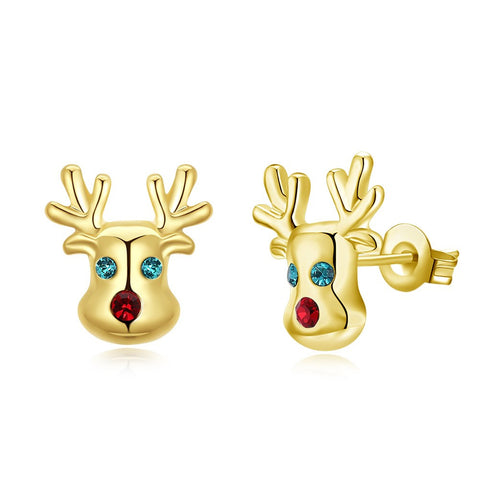 Swarovski Crystal Rudolph Stud Earrings - CharmToSpare