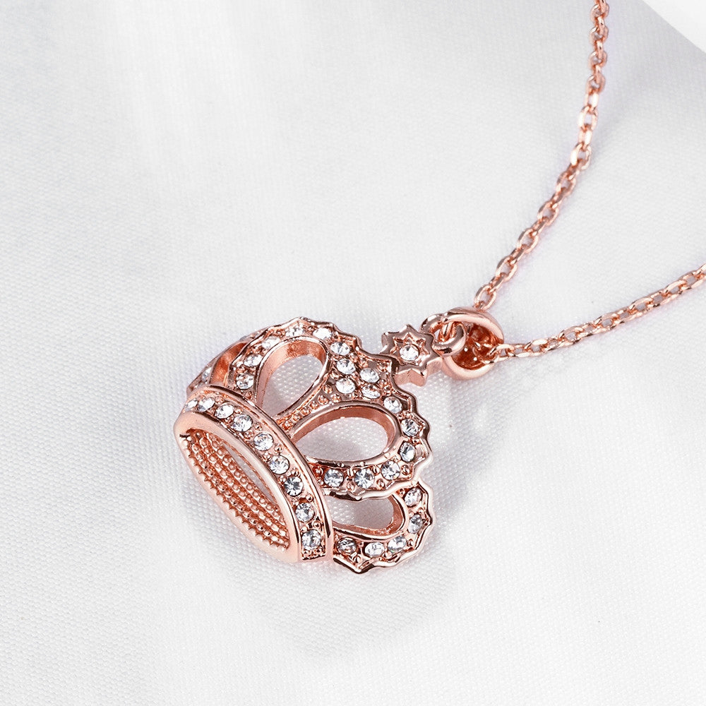 18K Rose Gold Plated Swag KingNecklace - CharmToSpare