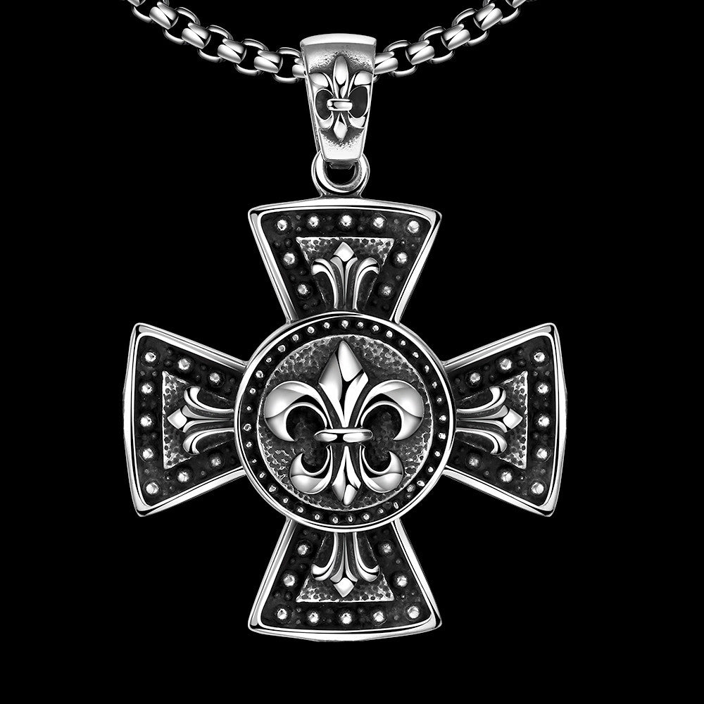 Thick Cross Stainless Steel Necklace - CharmToSpare