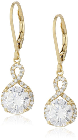 Swarovski Infinity Crystal Drop Earrings - Gold - CharmToSpare