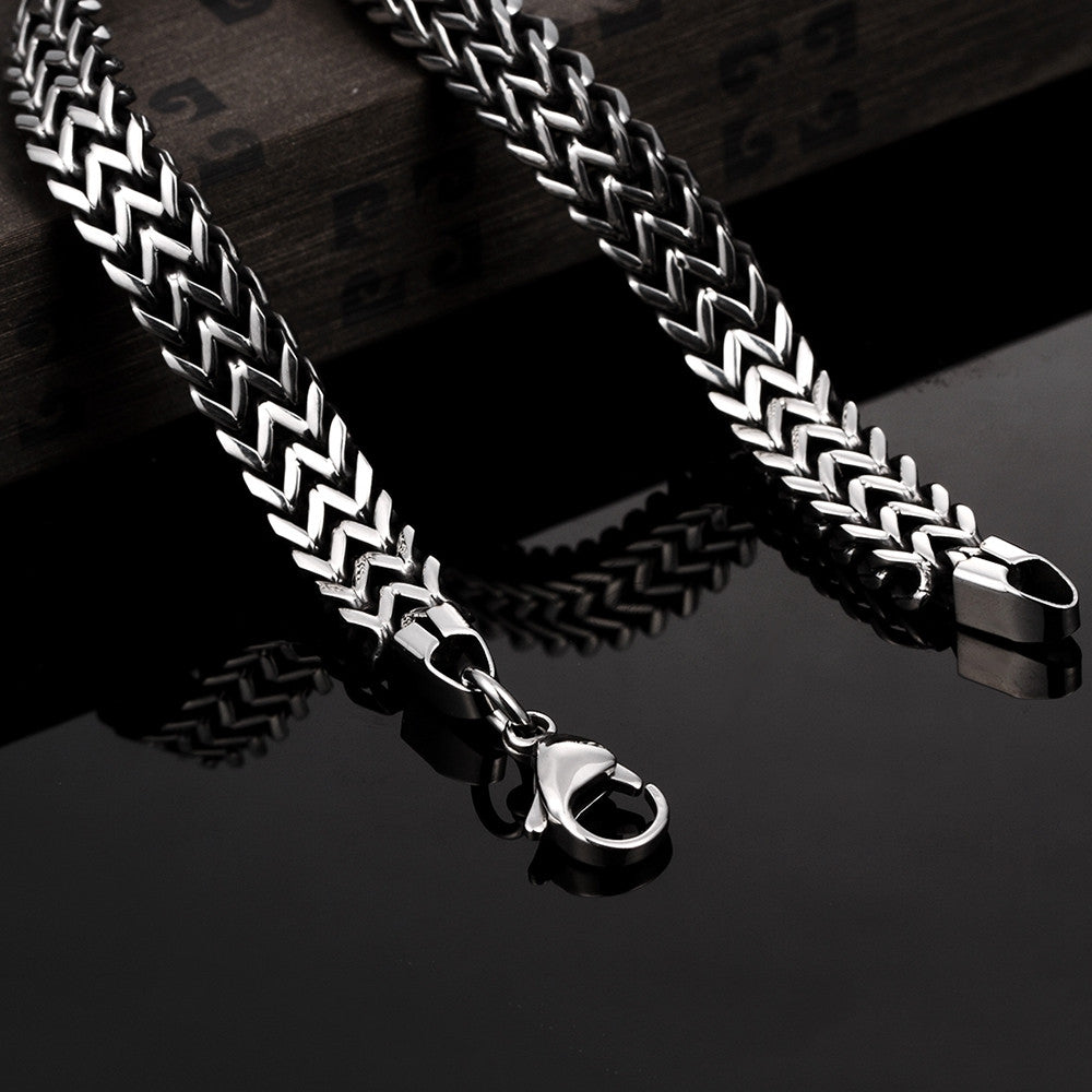 Trio-Cut Thick Stainless Steel Bracelet - CharmToSpare