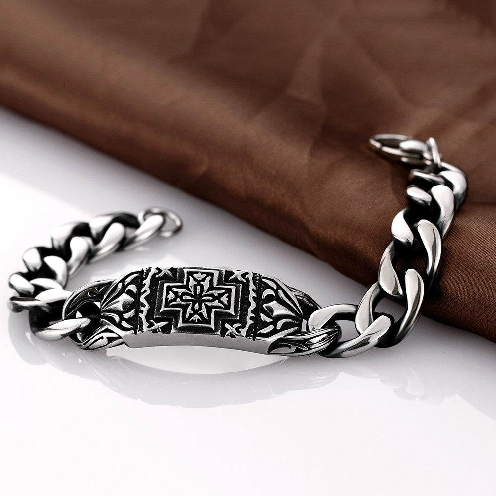 Greek Inspired Emblem Stainless Steel Bracelet - CharmToSpare