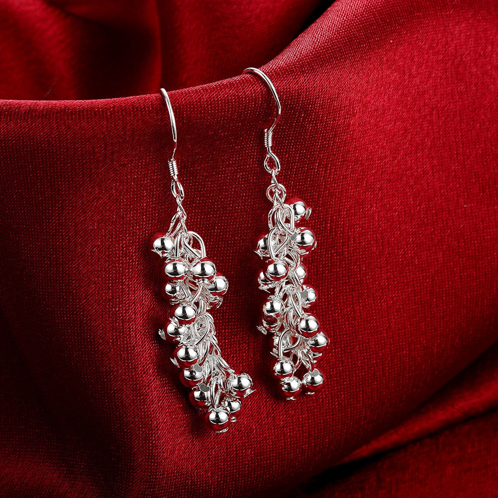 18K White Gold Plated Full Fill Orchid Drop Earring - CharmToSpare