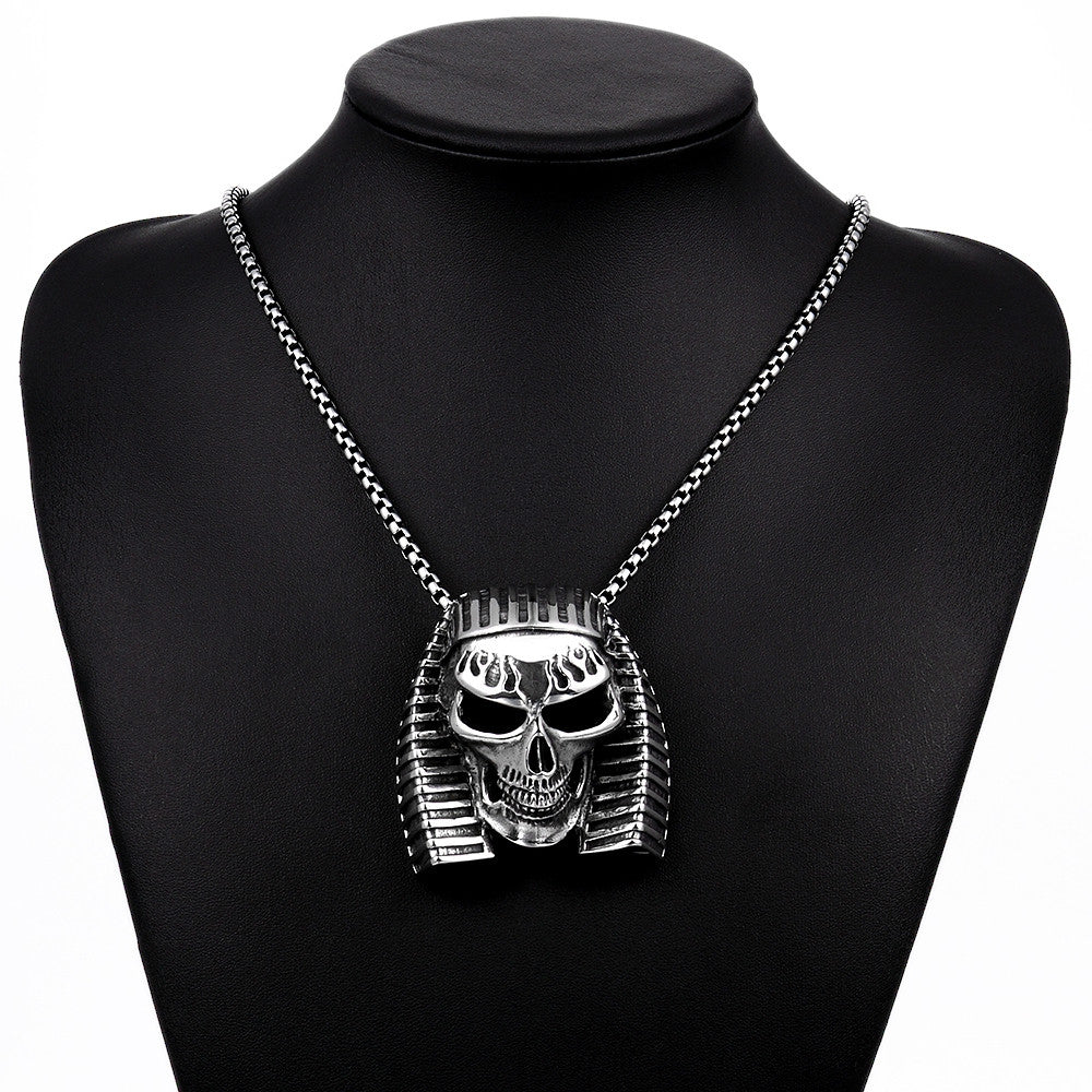 Pharaoh's Emblem Stainless Steel Necklace - CharmToSpare