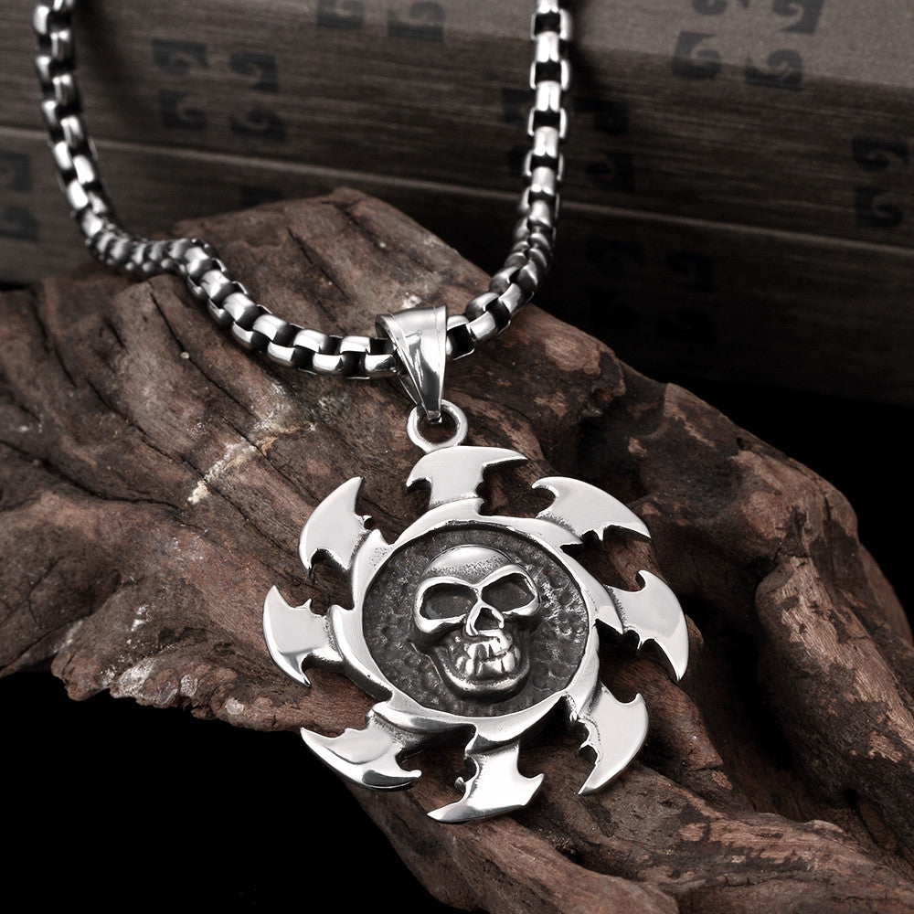Skull Blade Stainless Steel Necklace - CharmToSpare