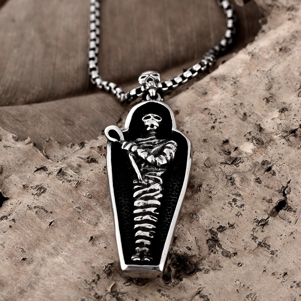 Stainless Steel Necklace Skeleton Body - CharmToSpare
