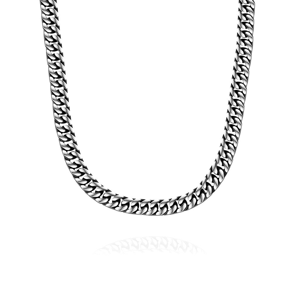 New York Classic Stainless Steel Chain Necklace - CharmToSpare