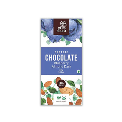 DARK CHOCOLATE WITH BLUEBERRY & ALMONDS