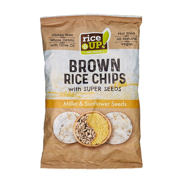 BROWN RICE CHIPS - MILLET & SUNFLOWER SEEDS