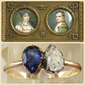 Napoleon Bonaparte and Josephine ring