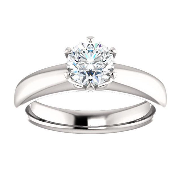 14K White 5/8 ct Diamond Solitaire Engagement Ring