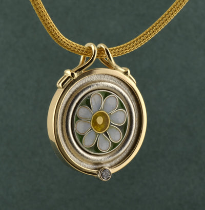 Enameled Roman Flower