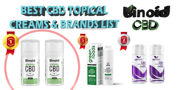 Top Best CBD Topical Creams and Brand For Pain/Inflammation