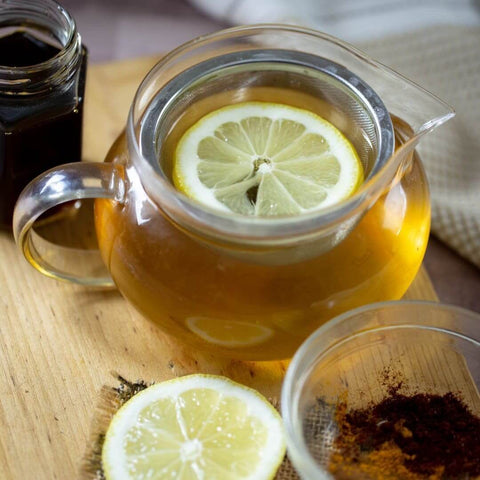 Ginger Green Tea with water soluble CBD Oil how to recipe