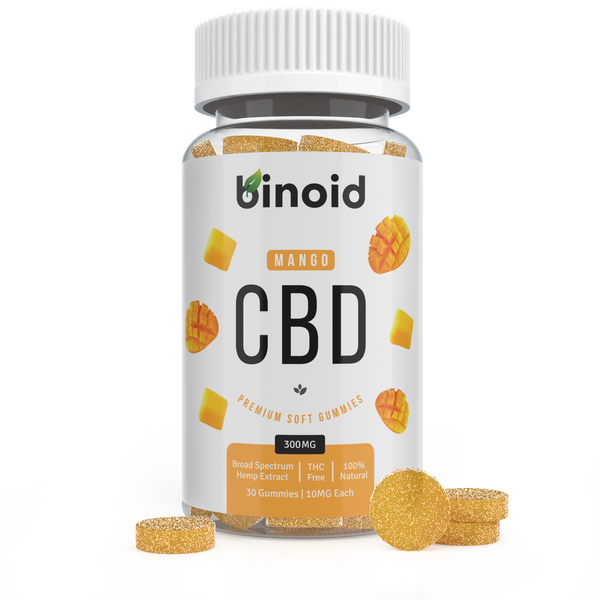 Binoid CBD Mango Fruit Gummies 300mg Hemp Organic buy online