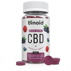 Binoid CBD Mixed Berry Fruit Gummies 300mg Hemp Organic buy online