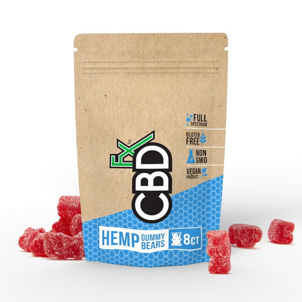 CBDfx CBD Gummy Bears Gummies 40mg 8 pack BinoidCBD Binoid Snack, For Sleep, Anxiety, New